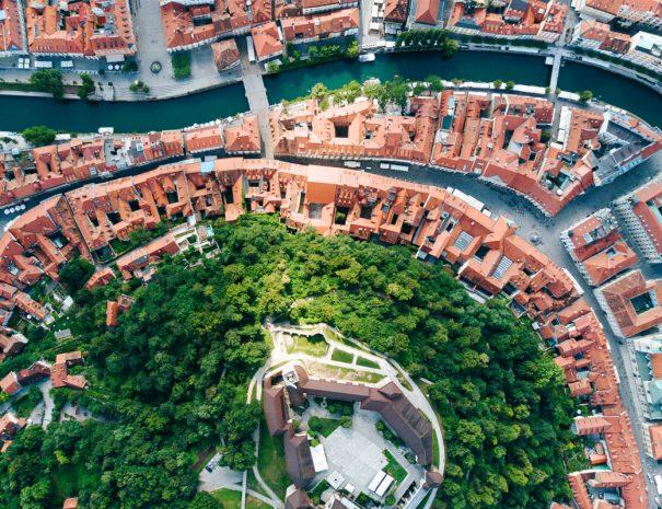 Ljubljana Aerial View